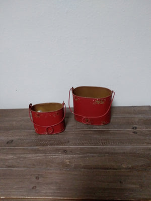 Antique Red Containers