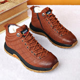 Zipper Warm Velvet Men Shoes