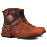 Wiipop Genuine Leather Men's Ankle Boots