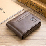 RFID Men's Wallet Leather Coin Purse