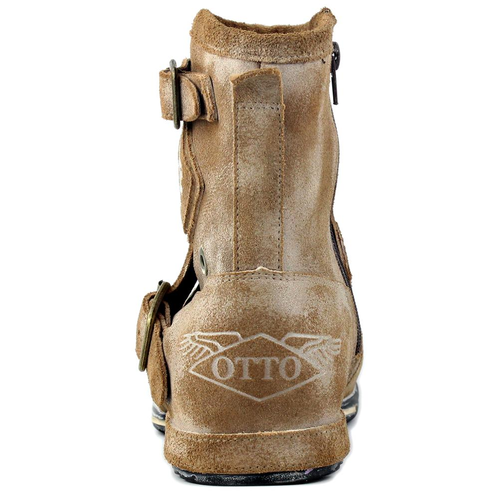 Western Retro Zipper-up Motorcycle Boots