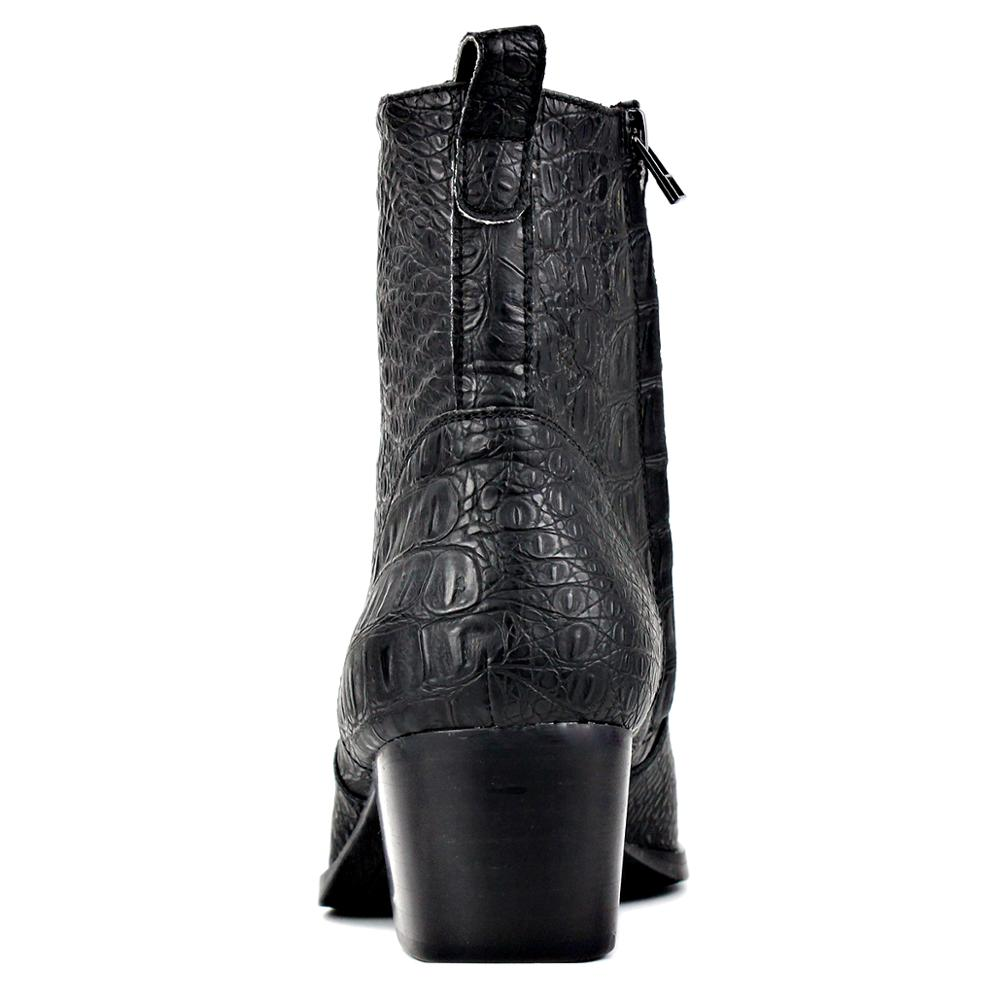 Men Designer Zipper-up Chelsea High Heel Boots