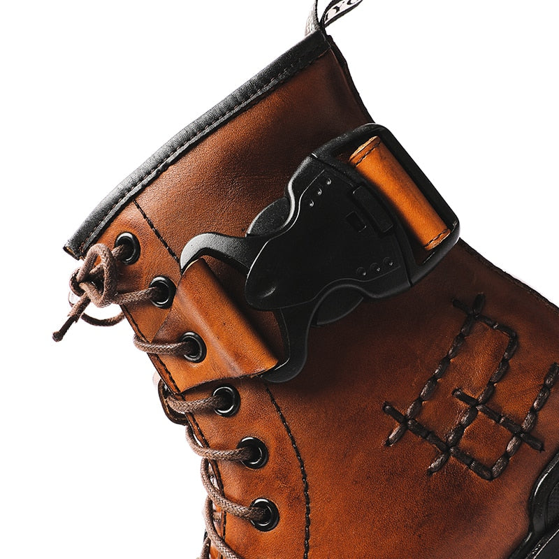 Adams Genuine Leather Motorcycle Boots