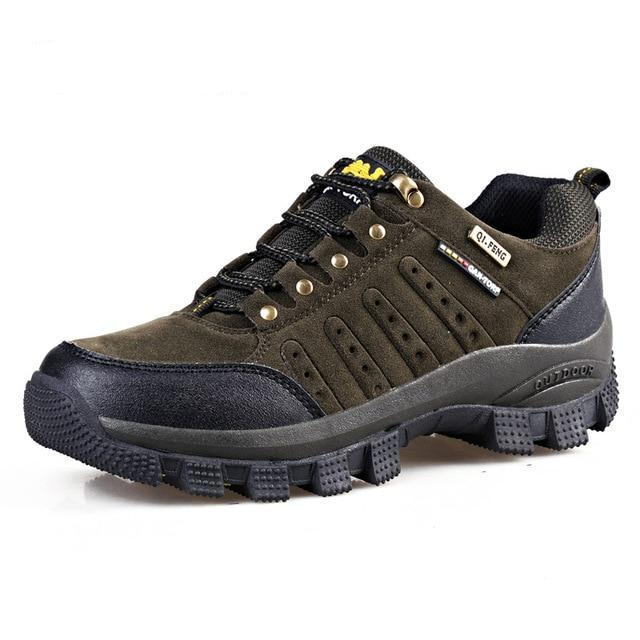 Mens Leather Casual Outdoors  Military Tactical Round Toe Shoes