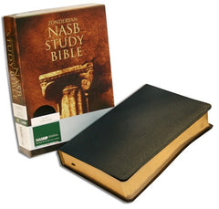 Study Bible - NASB, Black, Bonded Leather