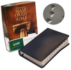 Study Bible - NASB, Navy, Bonded Leather, Indexed