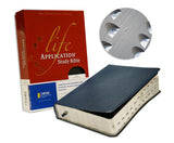 Life Application Study Bible - NIV, Navy, Top-Grain Leather, Indexed (older edition)