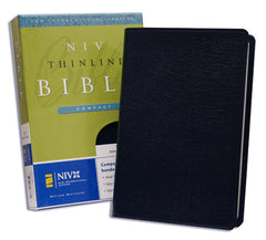 Thinline Compact Bible - NIV, Navy, Bonded Leather (older edition)