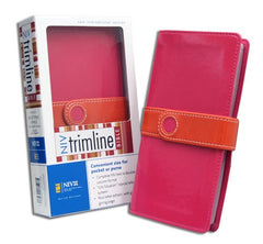 Trimline Bible - NIV, Bright Pink/Orange, Italian Duo-Tone, Magnetic Flap (older edition)