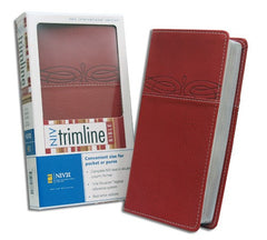 Trimline Bible - NIV, Cherry/Cherry, Italian Duo-Tone (older edition)