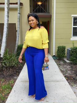 royal blue slacks - classy but sassy