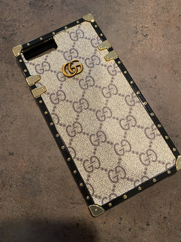 "GG Trunk Monogram iPhone Case ""Brown"""