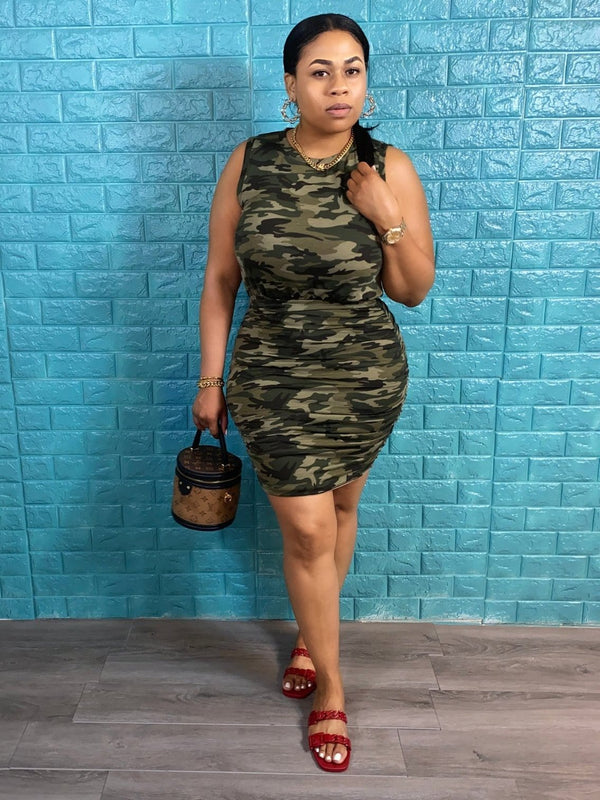 camouflage dress - classy but sassy