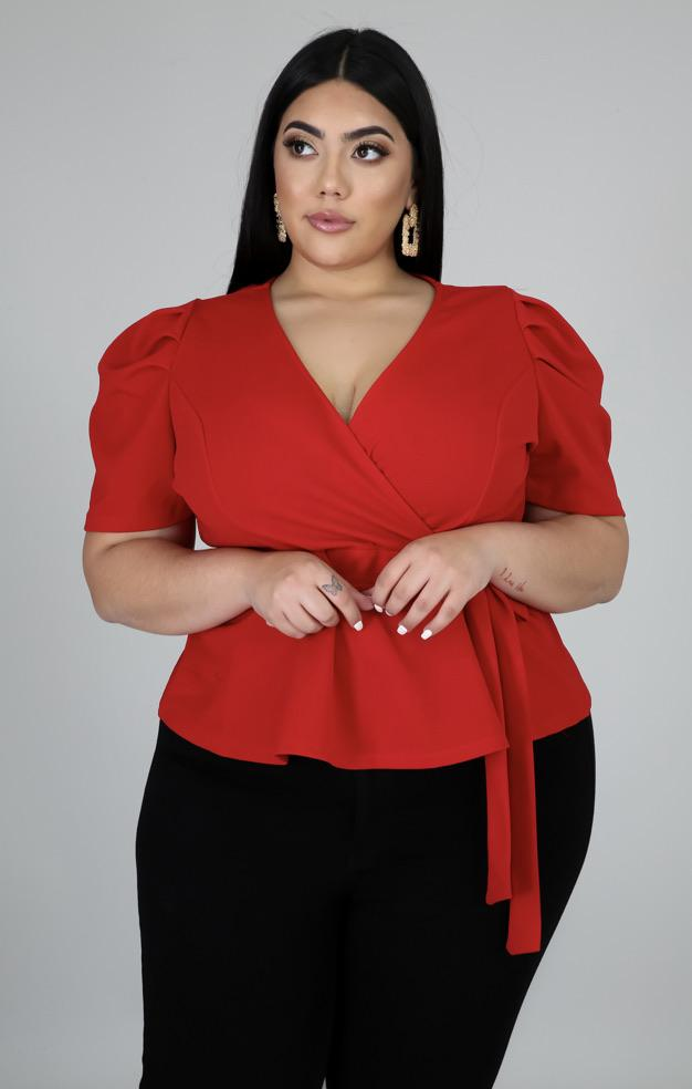 "Wrap Bae Top "" Red"""
