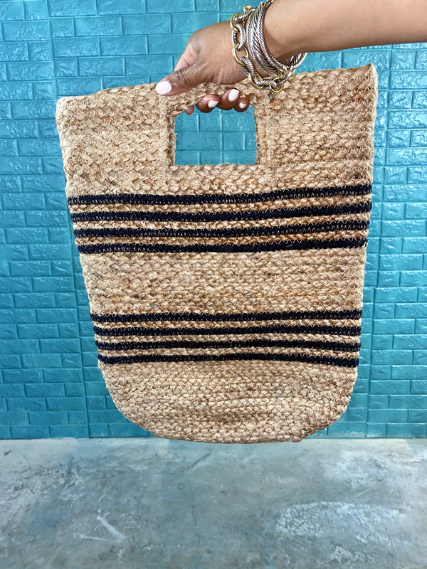 "Handy Straw Bag ""Black"""