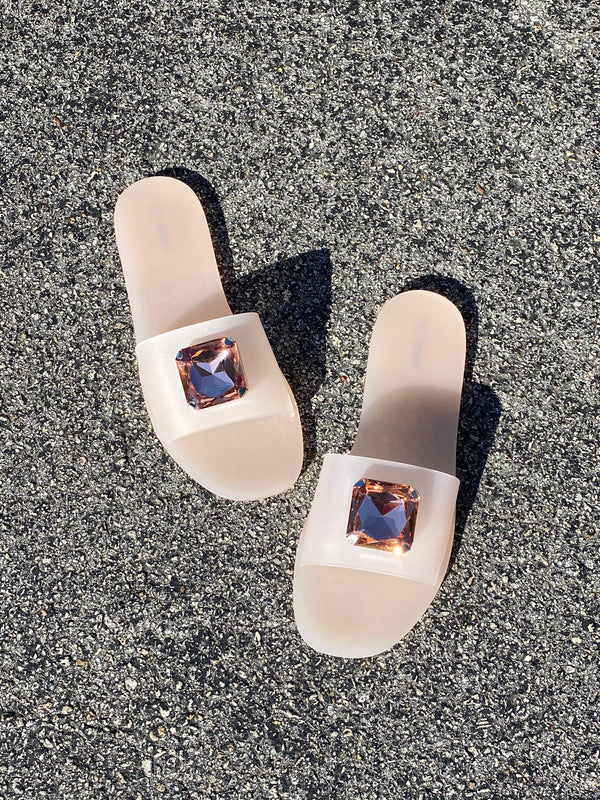 Cool Off Nude Clear Slides