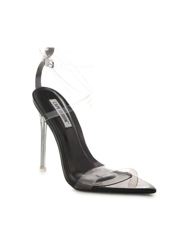 "Skins Transparent Sandals ""Black"""