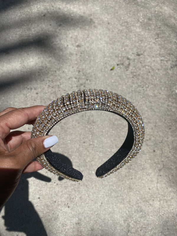 "Rhinestone Headband ""Gold"""