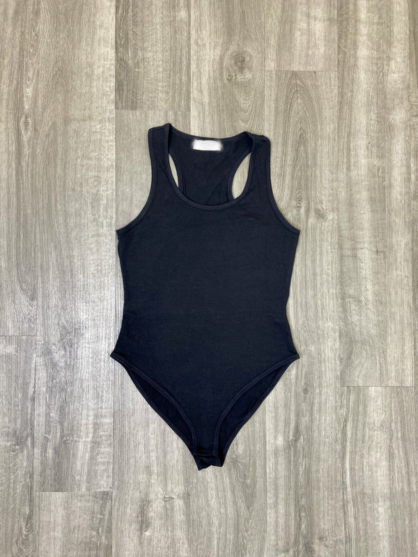Sleeveless Racerback Bodysuit (Black)