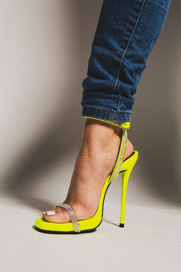 "Cape Robbin Belle Rhinestone Heels ""Lime""-Classy But Sassy-Classy But Sassy"