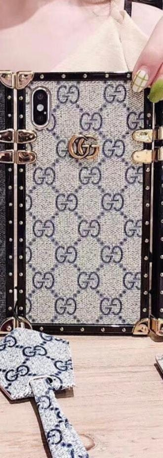 "GG Trunk Monogram iPhone Case ""Navy"""