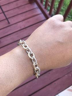 Small Link Two Tone Bracelet