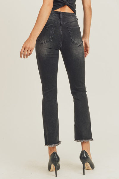 In Store - High Rise Vintage Ankle Straight Leg Jeans