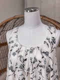 White and Grey Floral Shift Dress