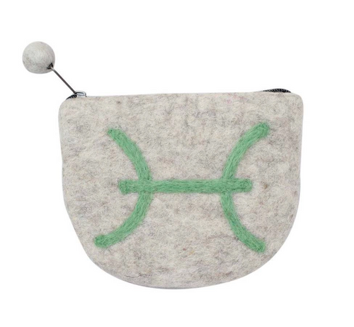 Fair Trade Zodiac Spun Felt Pouch