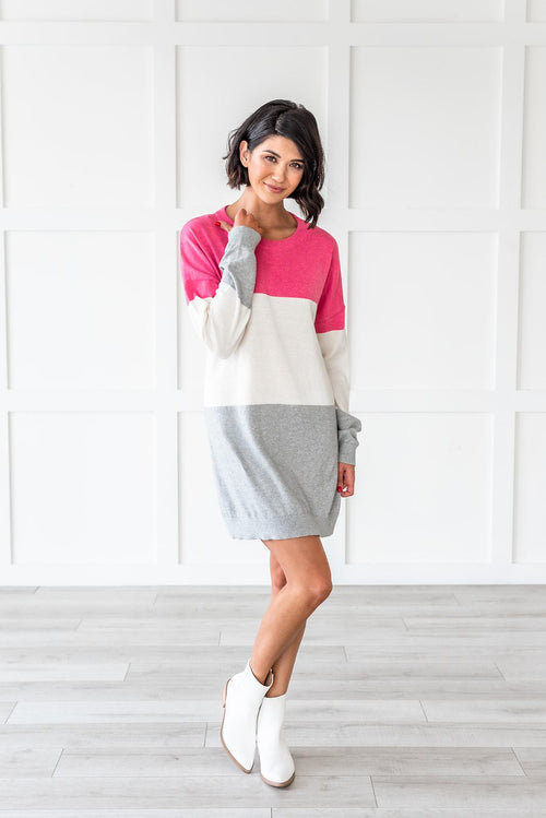 Easy To Love Color Block Dress