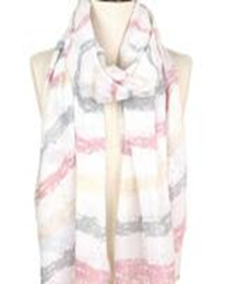 Brush Stroke Deco Scarf - Beige