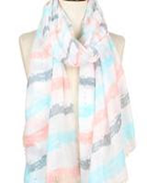 Brush Stroke Deco Scarf - Mint