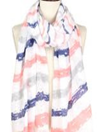 Brush Stroke Deco Scarf - Navy