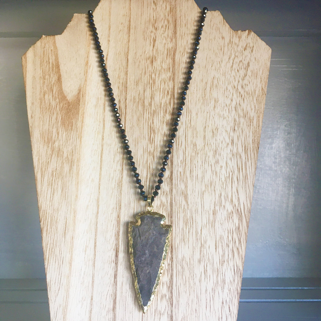 Jasper Arrowhead Necklace