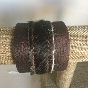Dark Hide Leather Cuff