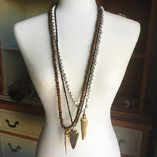 Load image into Gallery viewer, Jasper Arrowhead Necklace