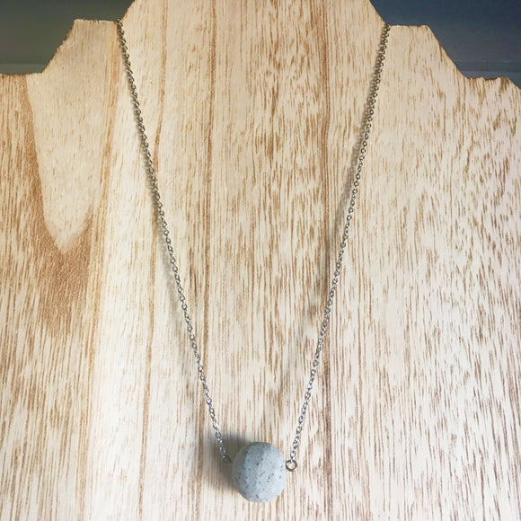 Concrete Ball Necklace