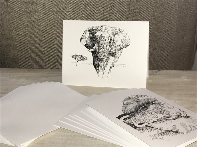 Elephant note cards - Pen