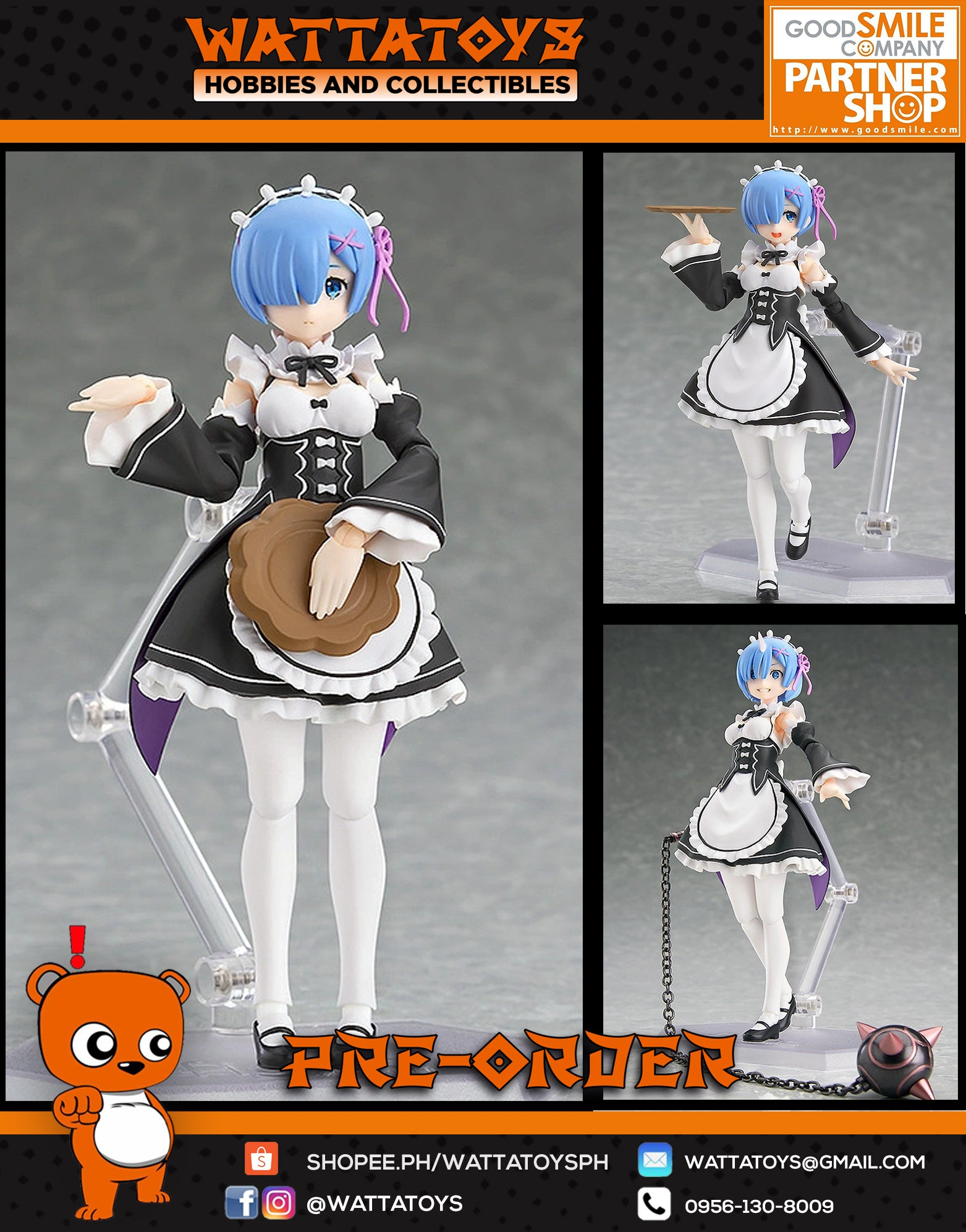 PRE-ORDER Max Factory figma Re:Zero Starting Life in Another World Rem Re-Run