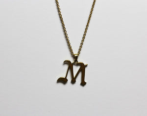 Personal Initial Necklace (925 Sterling Silver or Premium Gold Plating) - Wolff Jewellery