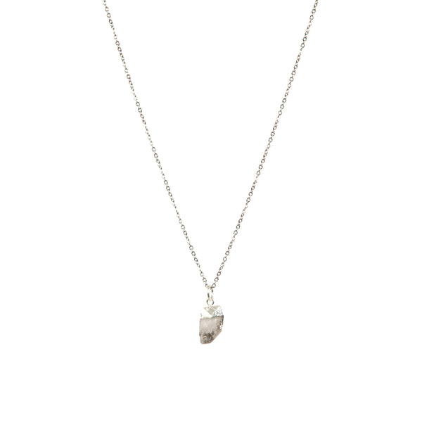 Stone of Dreams Necklace - Herkimer Diamond - Small - (Gold Plated or Silver)