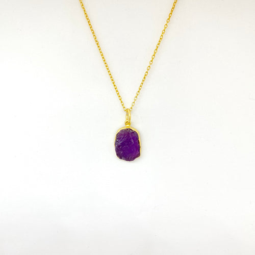 Stone of Protection - Amethyst (Gold Plated) - Wolff Jewellery