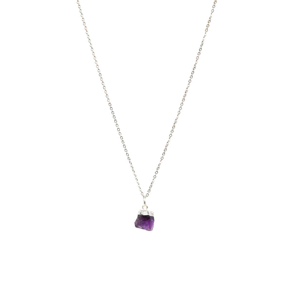 Stone of Protection Necklace - Amethyst - Small - (Gold Plated or Silver)