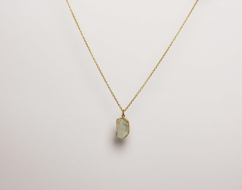 Stone of Balance - Aquamarine (Gold Plated) - Wolff Jewellery