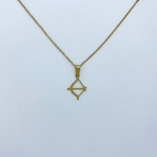Zodiac Sign Necklace (Silver or Gold Plated) - Saggitarius - Wolff Jewellery