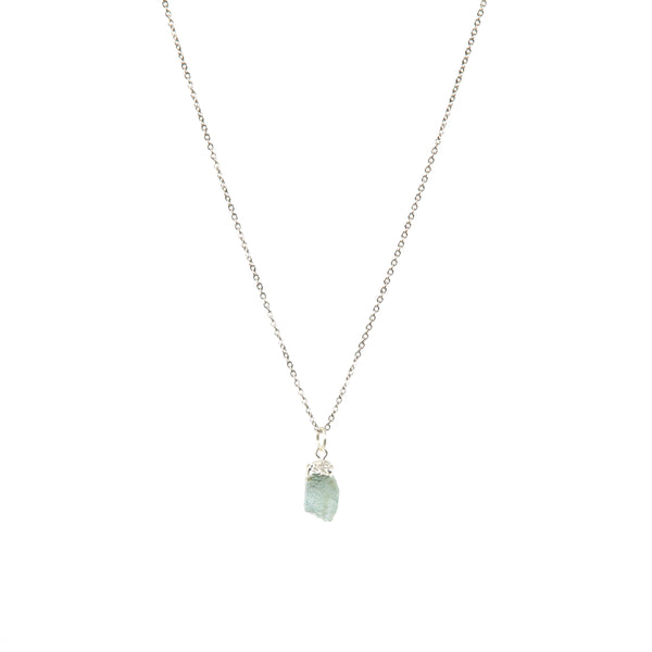 Stone of Balance Necklace - Aquamarine - Small - (Gold Plated or Silver)