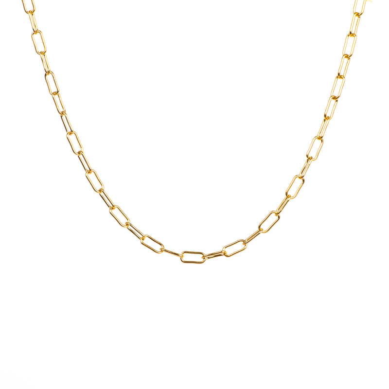 Big Oval Link Necklace - Silver / Gold Plated