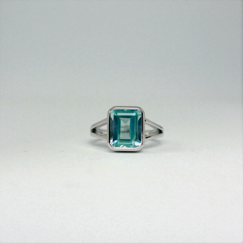 Stone of Balance Ring - Aquamarine (925 Sterling Silver or Gold Plated)