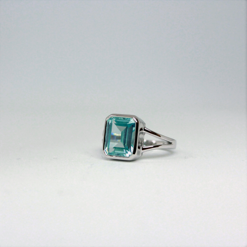 Stone of Balance Ring - Aquamarine (925 Sterling Silver or Gold Plated) - Wolff Jewellery