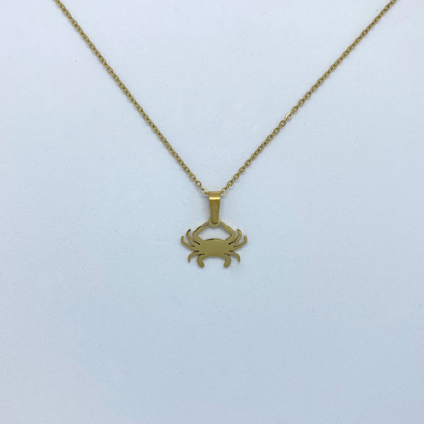 Zodiac Sign Necklace (Silver or Gold Plated) - Cancer - Wolff Jewellery